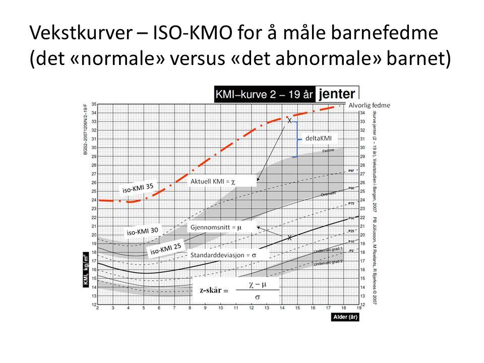 Vekstkurver – ISO-KMO for å måle barnefedme (det «normale» versus «det abnormale» barnet)
