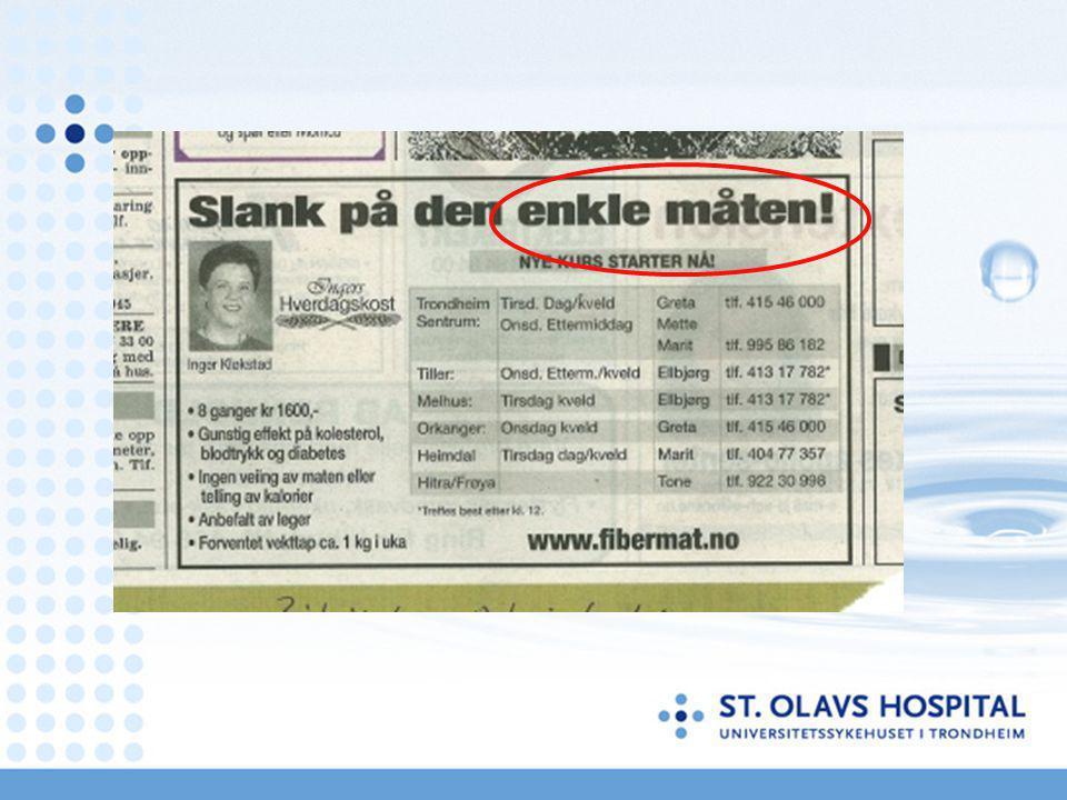 Internett www.stolav.no/overvekt Ofte stilte spørsmål Kontaktinfo Lenker Forskning