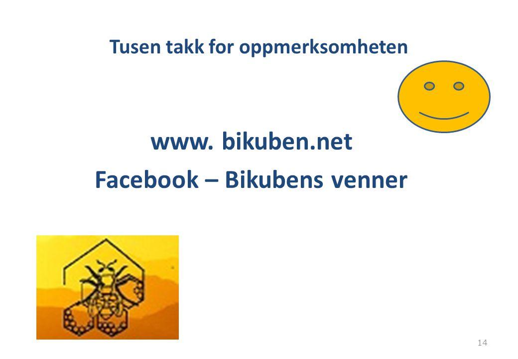 Tusen takk for oppmerksomheten www. bikuben.net Facebook – Bikubens venner 14