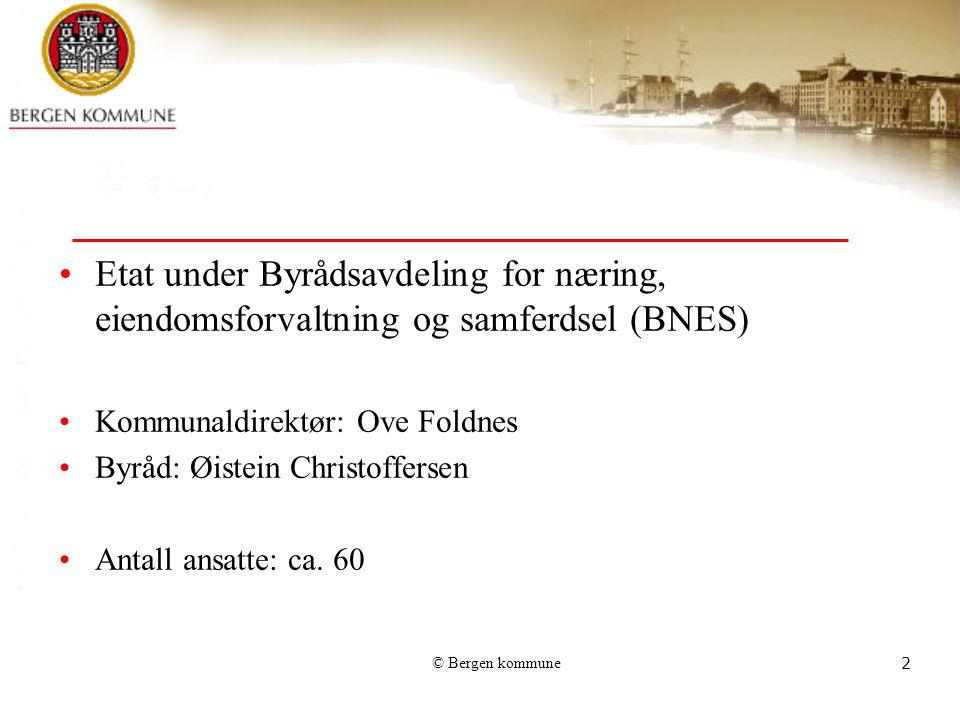 © Bergen kommune3 Formål: Dekke Bergen kommunes behov for lokaler til kommunal virksomhet ved forvaltning av egne areal, nybygging og innleie Forvaltet areal: ca.