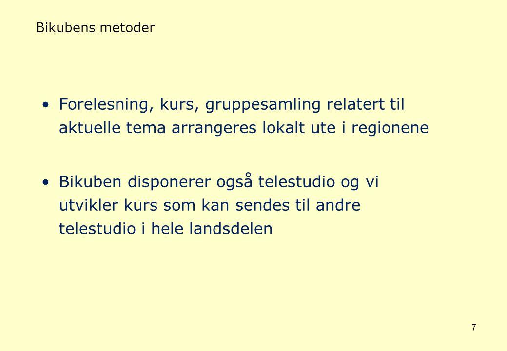 BIKUBEN - Regional funksjon Finnmark 19 kommuner 18