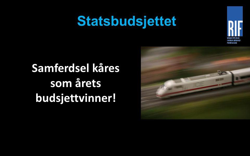 Statsbudsjettet Samferdsel kåres som årets budsjettvinner!