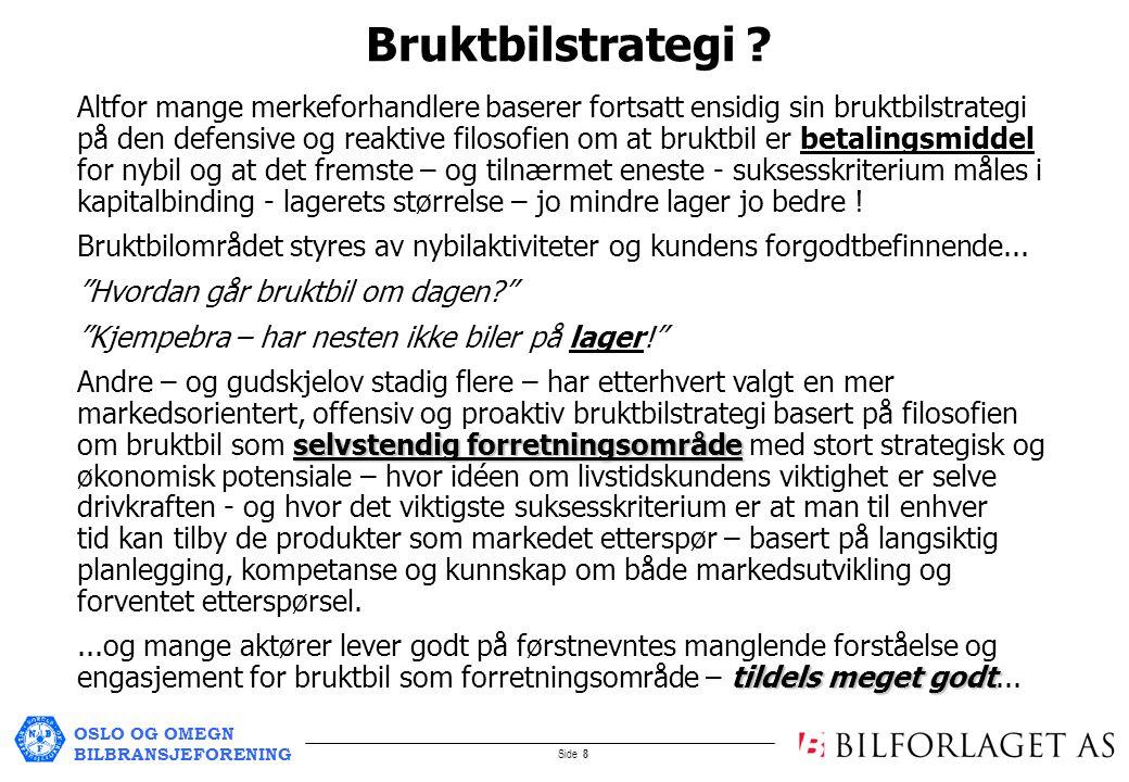 OSLO OG OMEGN BILBRANSJEFORENING Side 8 Bruktbilstrategi .
