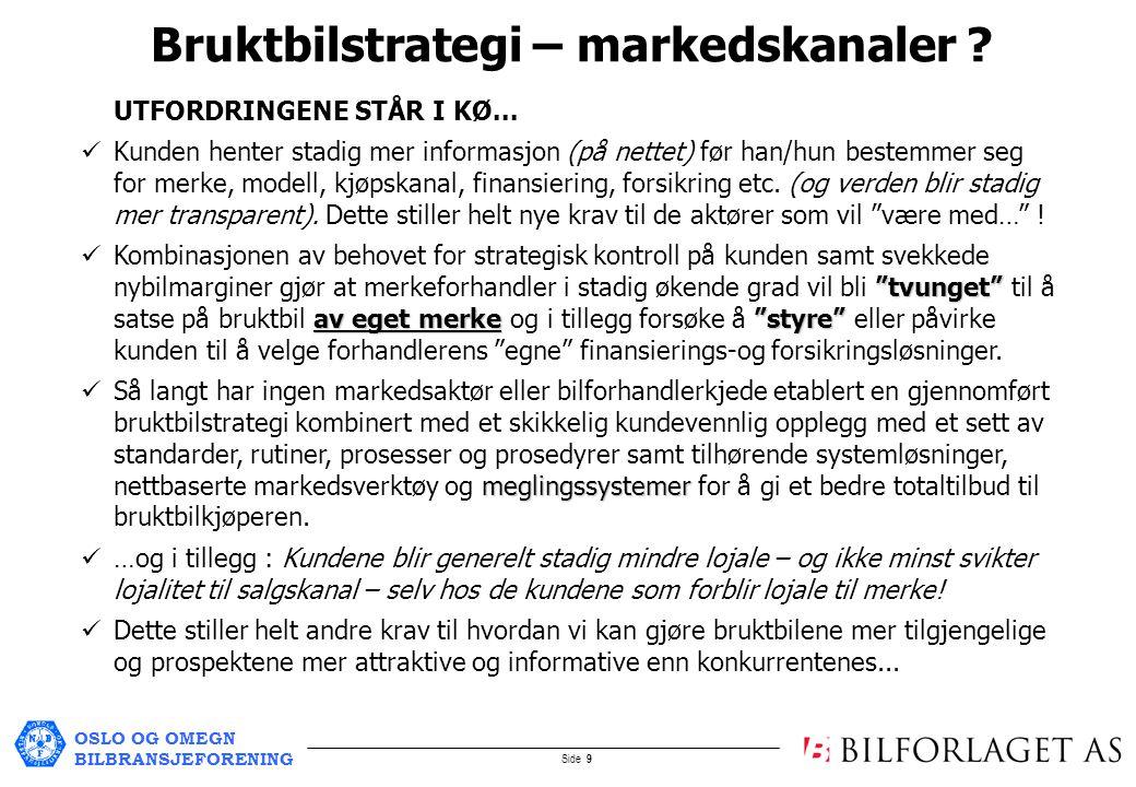 OSLO OG OMEGN BILBRANSJEFORENING Side 9 UTFORDRINGENE STÅR I KØ...