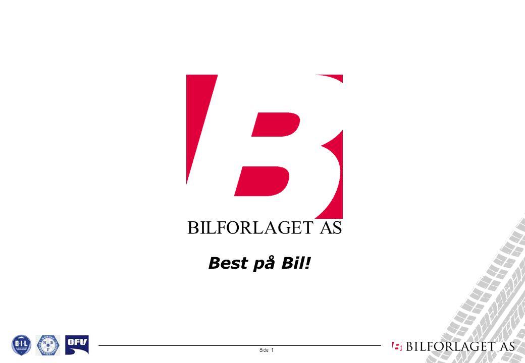 Side 1 BILFORLAGET AS Best på Bil!