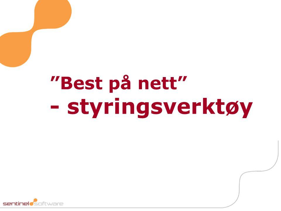 """""""Best på nett"""" - styringsverktøy"""