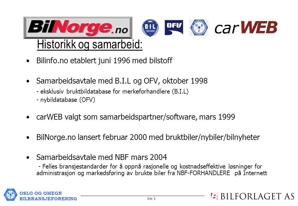OSLO OG OMEGN BILBRANSJEFORENING Side 4 Plattformen: carWEB-BilNorge.no carWEB-BilNorge.no anbefales av B.I.L og NBF som plattform for salg av bruktbiler på Internett Fra carWEB-BilNorge-plattformen kan forhandlere også annonsere bruktbiler til andre kommersielle internettsider, aviser og salgskanaler, bl.a.: –Finn –Zett –Bilguiden –Autobørsen –TV2 Torget –Regionaviser –Lokalaviser