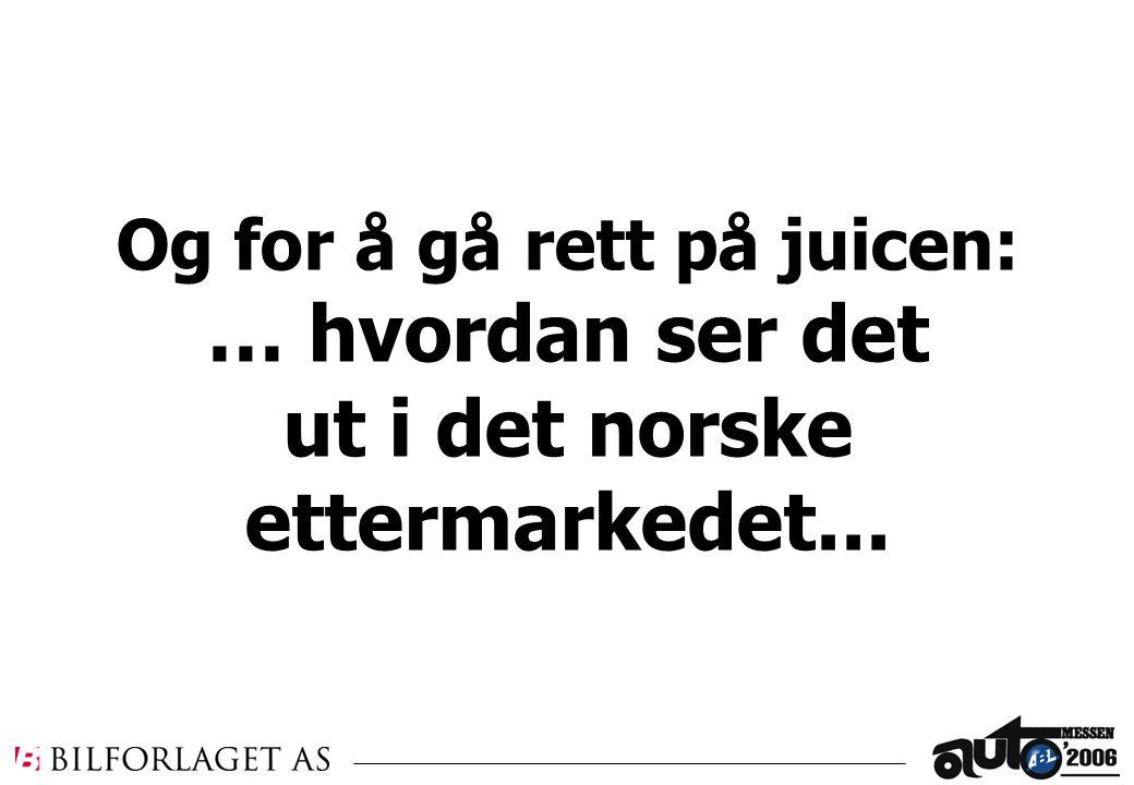 Og for å gå rett på juicen: … hvordan ser det ut i det norske ettermarkedet...