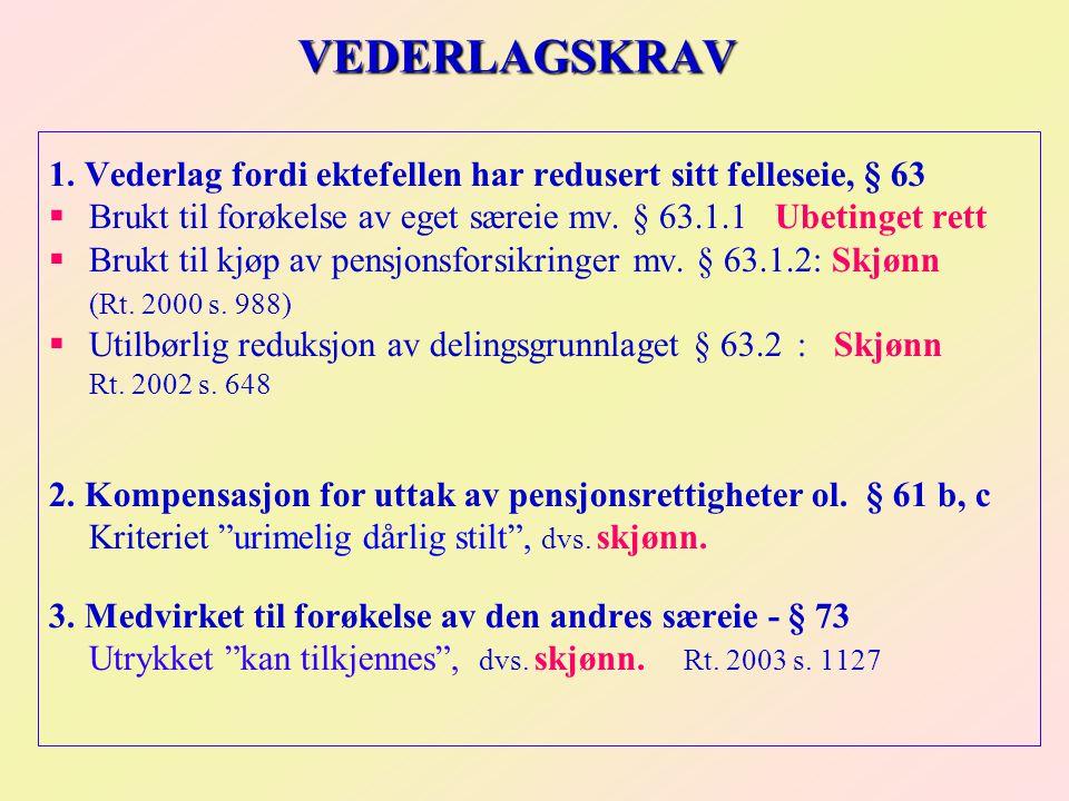 VEDERLAGSKRAV 1.
