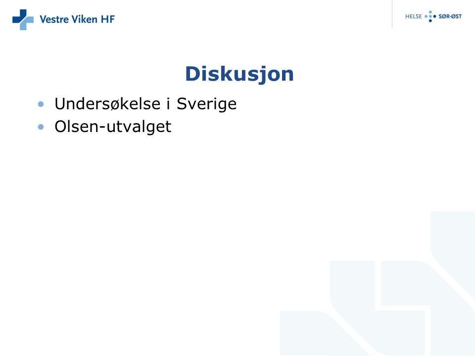 Diskusjon Undersøkelse i Sverige Olsen-utvalget