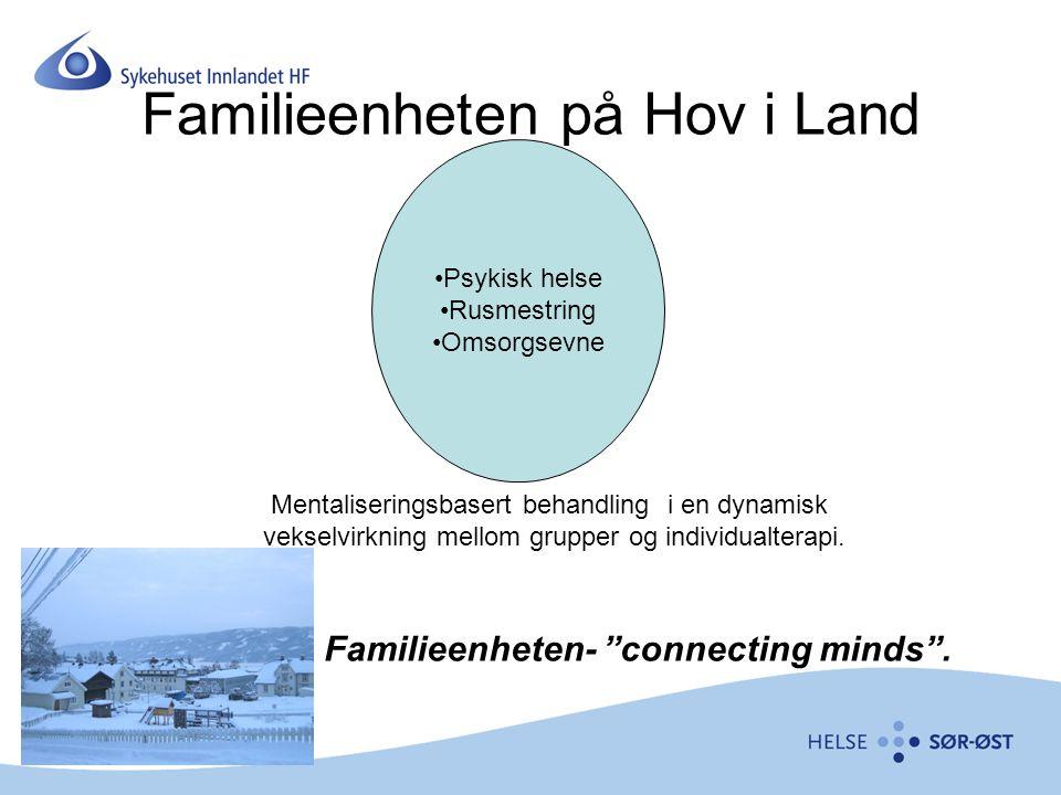 Familieenheten på Hov i Land Psykisk helse Rusmestring Omsorgsevne Mentaliseringsbasert behandling i en dynamisk vekselvirkning mellom grupper og indi