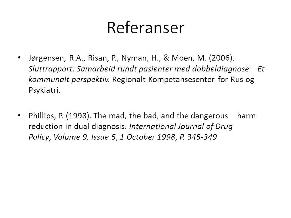 Jørgensen, R.A., Risan, P., Nyman, H., & Moen, M. (2006).