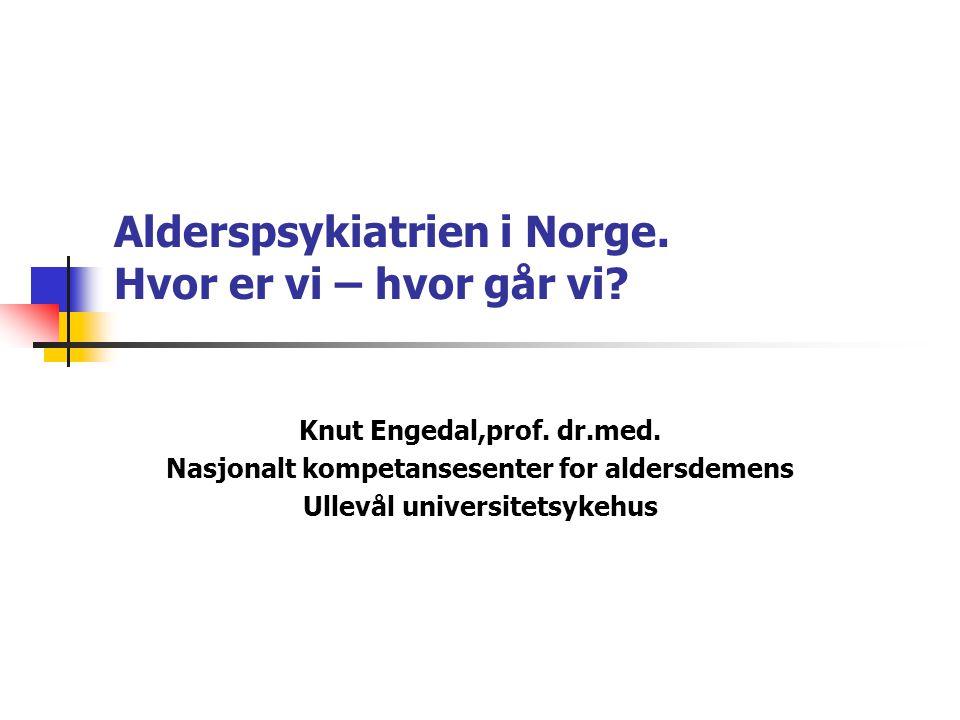 Planer for alderpsykiatrisk drift 19952001 n=17n=18 Tilby demensutredning1618 Tilby langtidsopph.