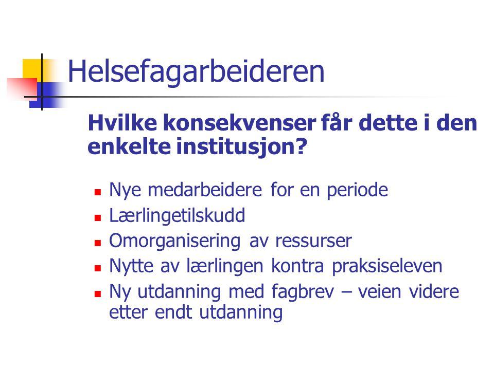 Helsefagarbeideren Organisering: alternativer….