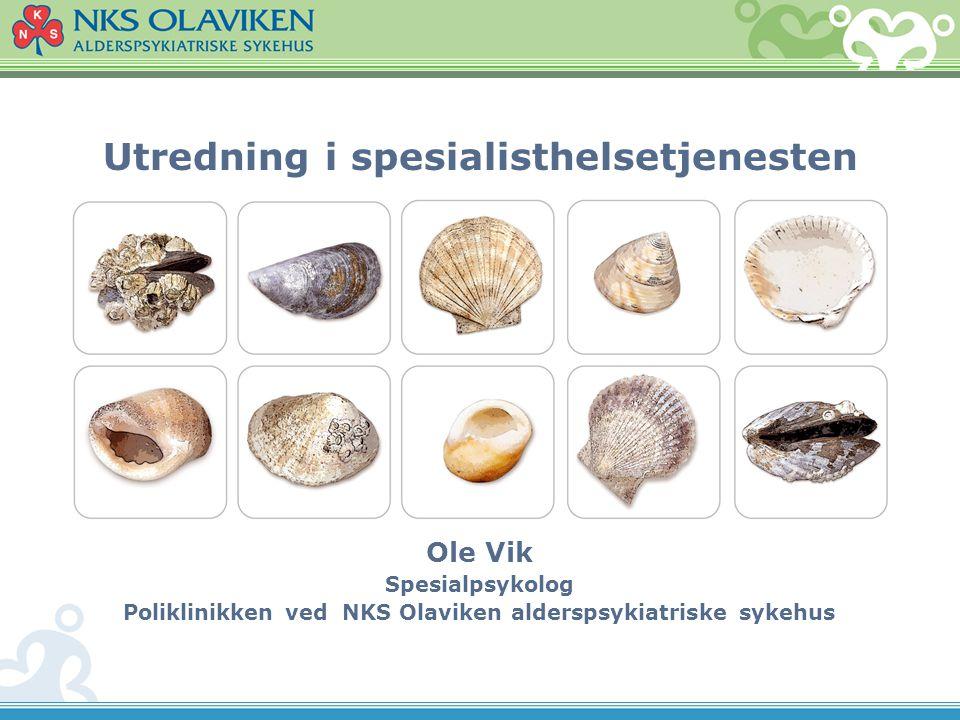 NKS Olaviken alderspsykiatriske sykehus Er en alderspsykiatrisk spesialinstitusjon med en spesialkompetanse innen demens.