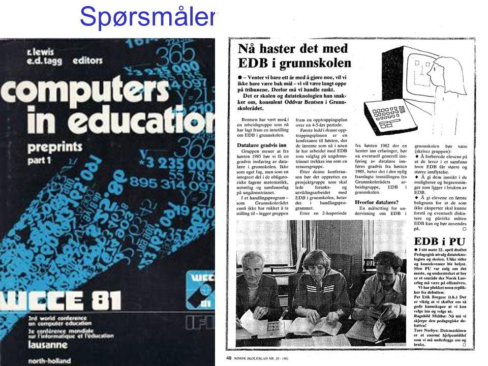 Mange andre land har IT som eget, obliga- torisk fag i grunnskolen og videregående Norge hadde tidligere Økonomi og informasjons- behandling .