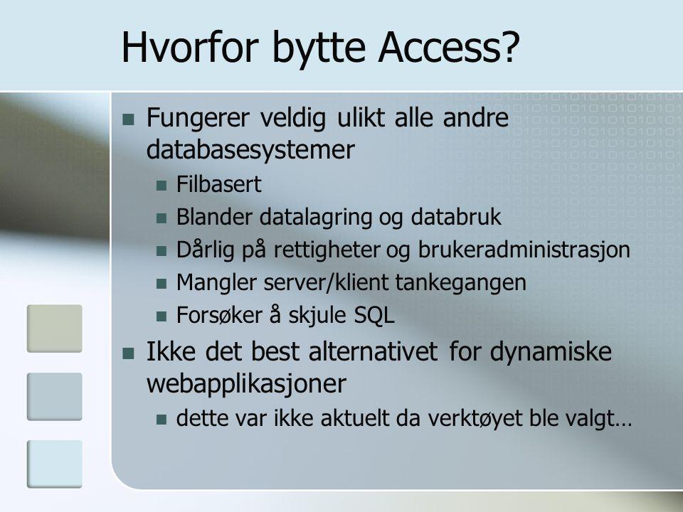 Hvorfor bytte Access.
