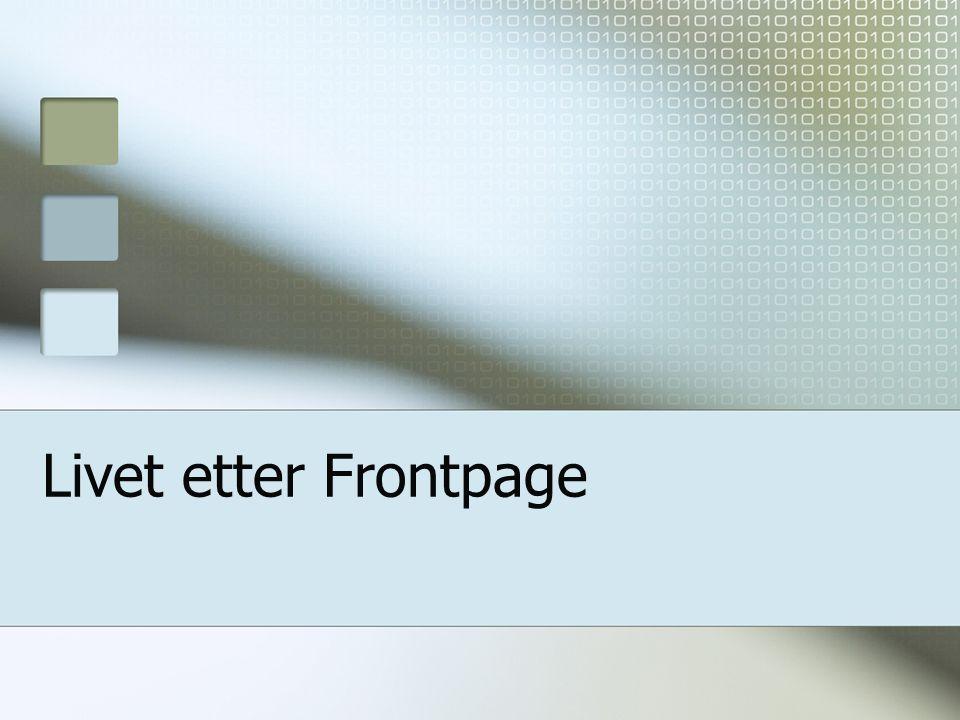 Livet etter Frontpage