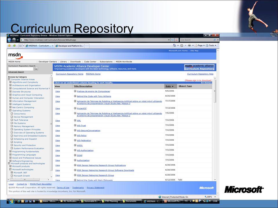 Curriculum Repository