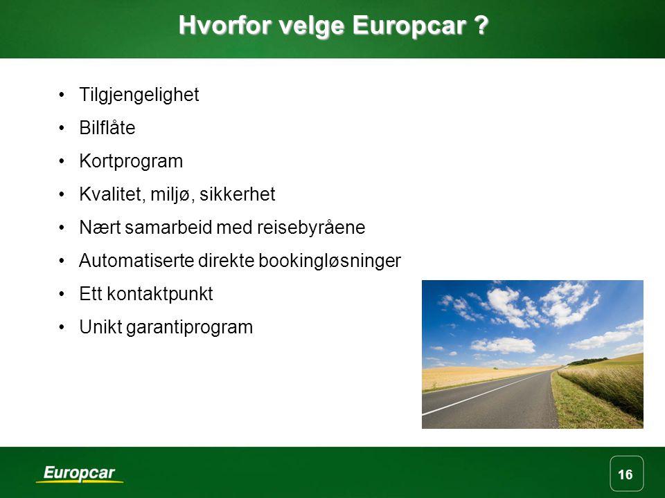 16 Hvorfor velge Europcar .