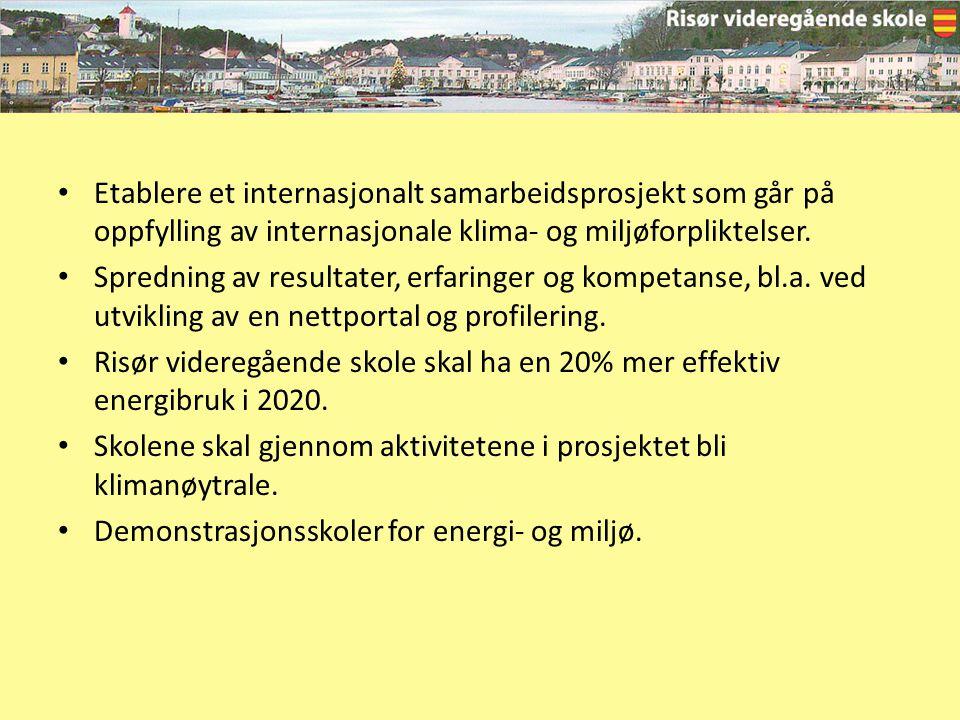 Etablere et internasjonalt samarbeidsprosjekt som går på oppfylling av internasjonale klima- og miljøforpliktelser. Spredning av resultater, erfaringe
