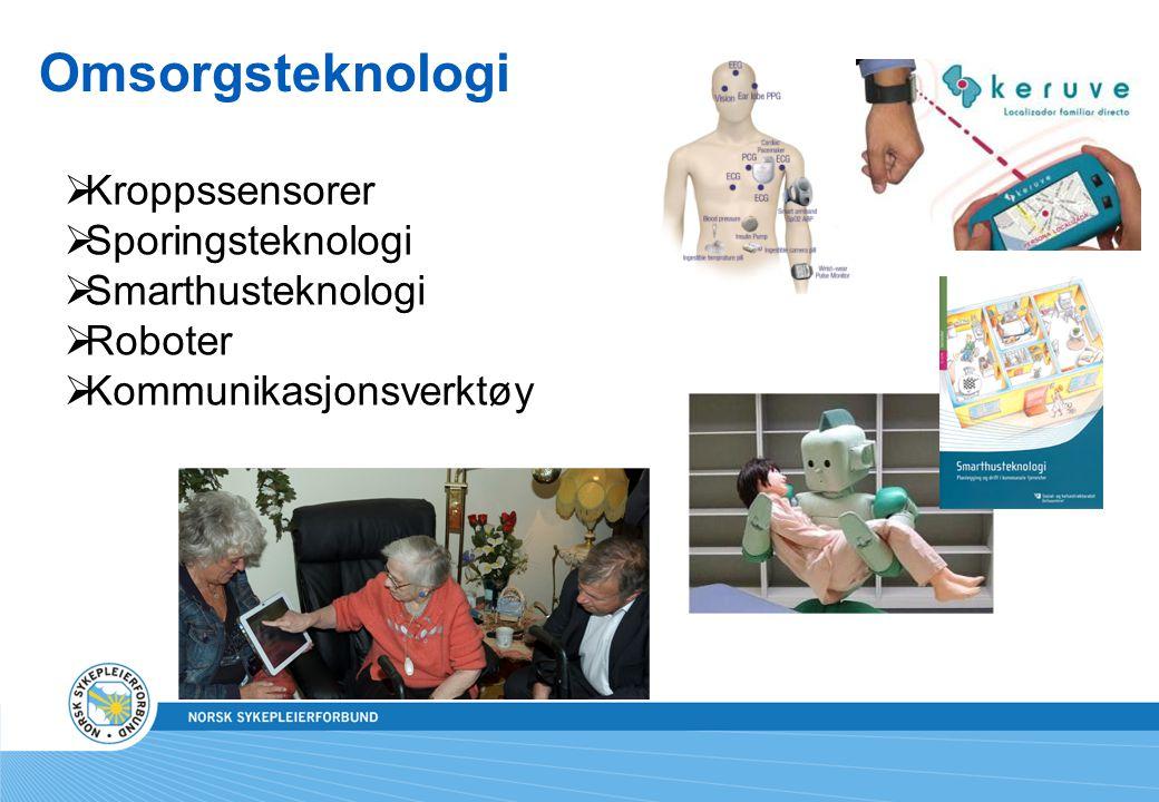 Omsorgsteknologi  Kroppssensorer  Sporingsteknologi  Smarthusteknologi  Roboter  Kommunikasjonsverktøy