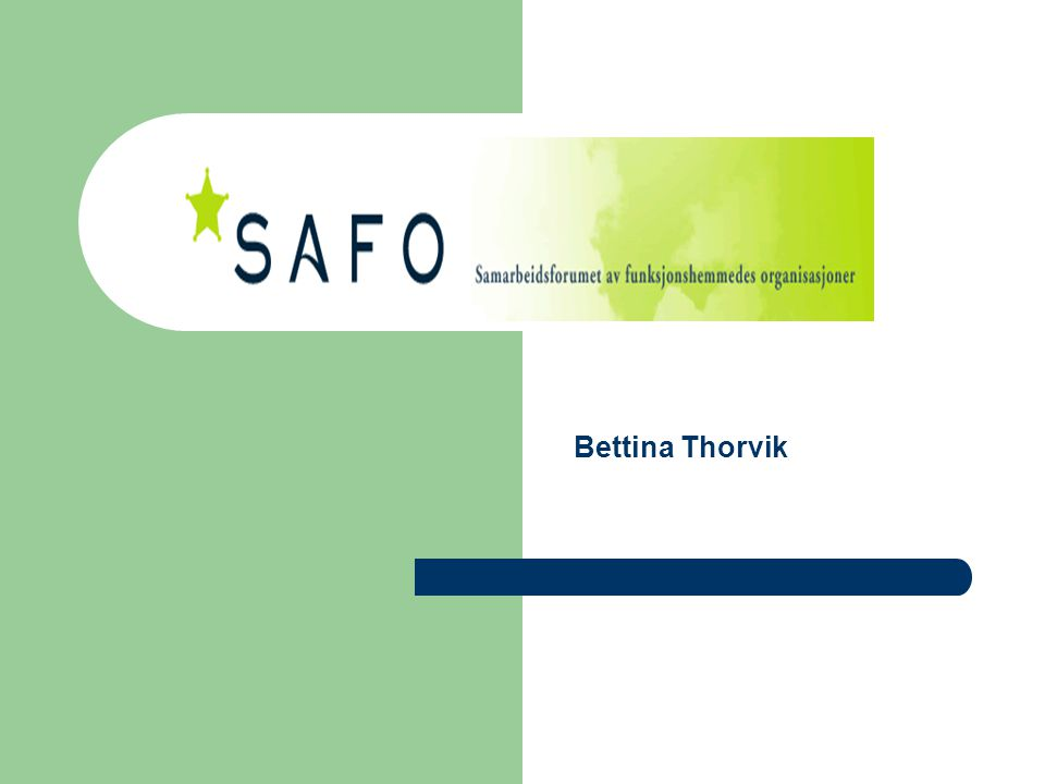 Om SAFO Bettina Thorvik