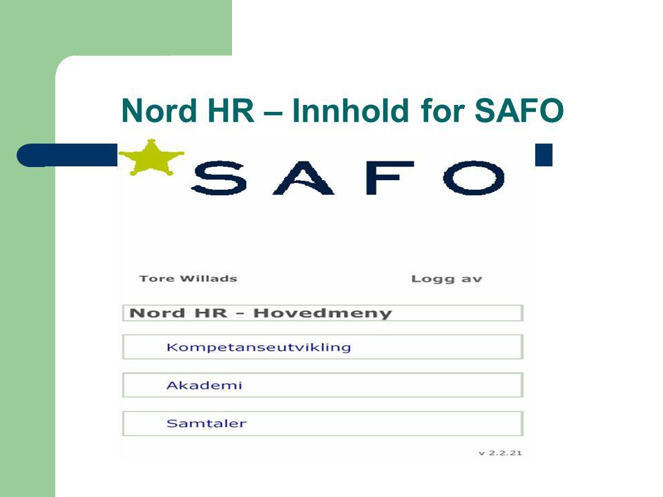 Nord HR – Innhold for SAFO