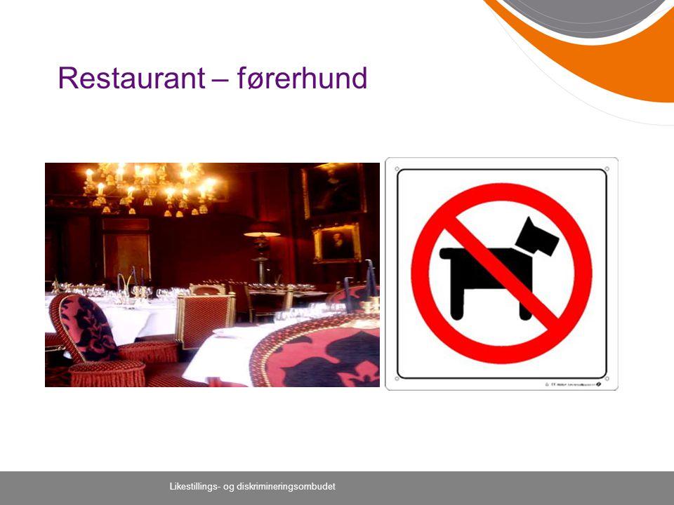 Restaurant – førerhund