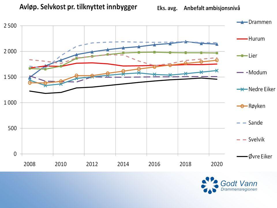 Siden 2000 en betydelig opptrapping av ledningsfornyelse (gj.snitt 16 mill kr/år), hovedsakelig som konsekvens av kloakksanering i samme gate.