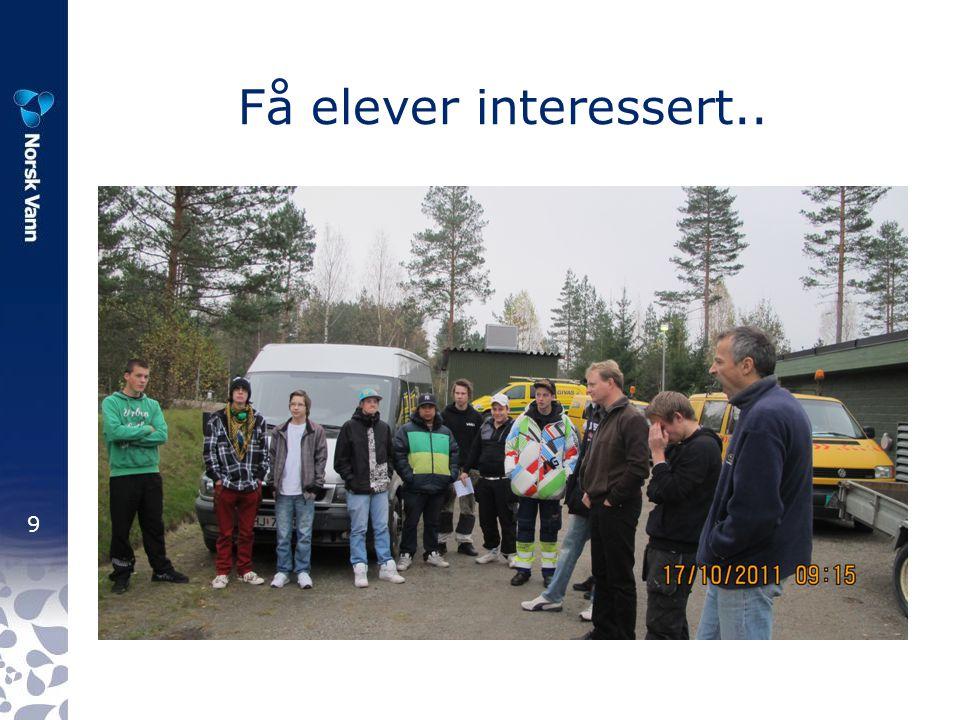 9 Få elever interessert..