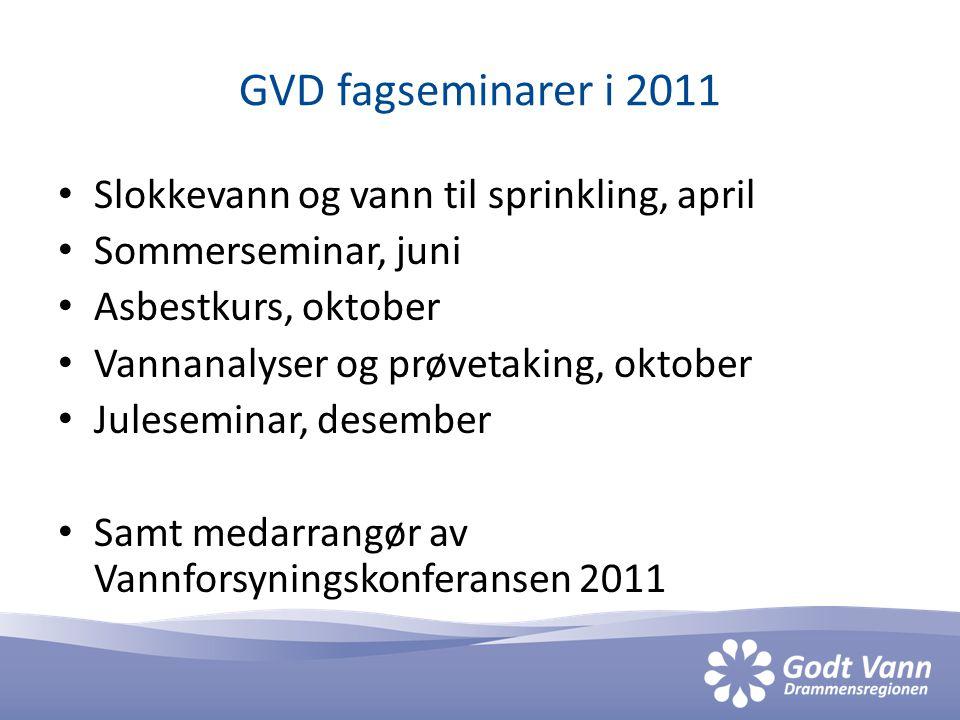 GVD-prosjekter i 2011.