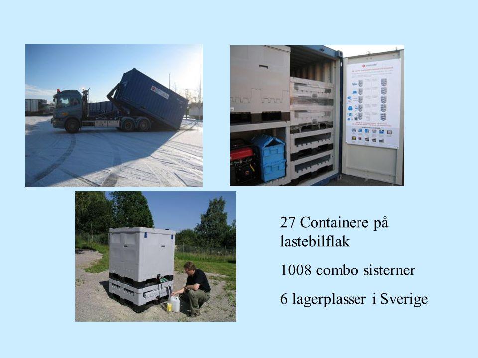 27 Containere på lastebilflak 1008 combo sisterner 6 lagerplasser i Sverige