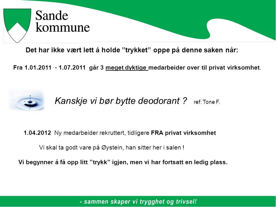 Fra 1.01.2011 - 1.07.2011 går 3 meget dyktige medarbeider over til privat virksomhet.