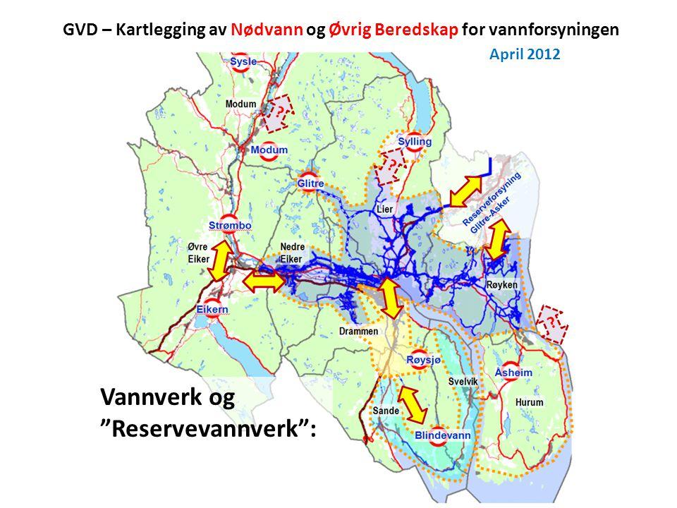GVD – Kartlegging av Nødvann og Øvrig Beredskap for vannforsyningen April 2012 .