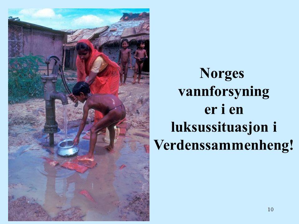 10 Norges vannforsyning er i en luksussituasjon i Verdenssammenheng!