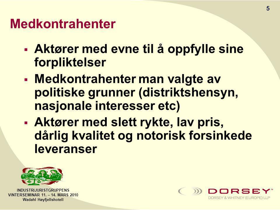 INDUSTRIJURISTGRUPPENS VINTERSEMINAR 11.– 14.