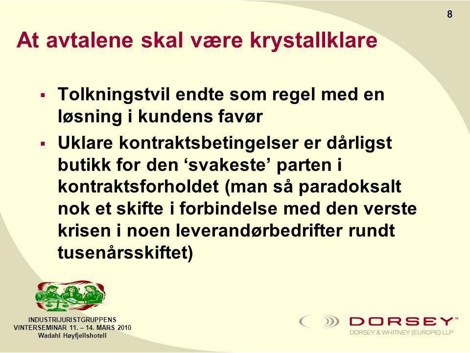 INDUSTRIJURISTGRUPPENS VINTERSEMINAR 11. – 14.