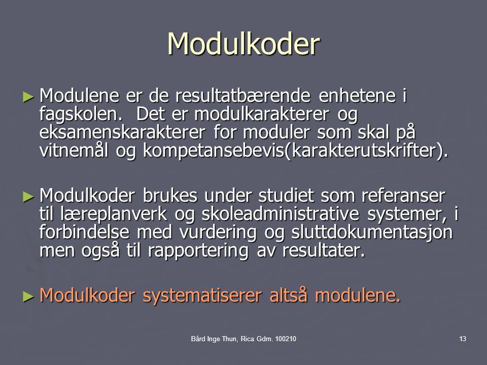 Bård Inge Thun, Rica Gdm.
