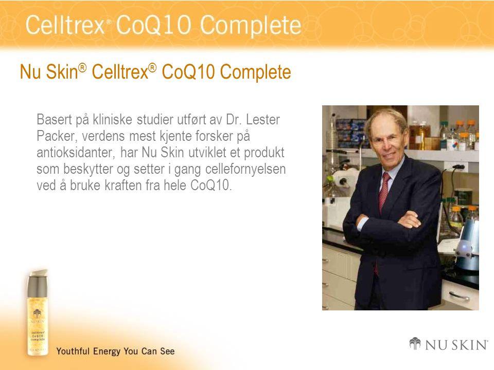 Nu Skin ® Celltrex ® CoQ10 Complete Basert på kliniske studier utført av Dr.