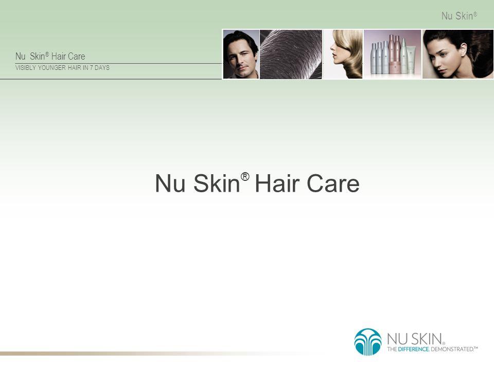 Nu Skin ® Hair Care VISIBLY YOUNGER HAIR IN 7 DAYS Nu Skin ® Weightless Conditioner Nøkkelingredienser limnanthes alba – gir håret volum uten at det tynges.