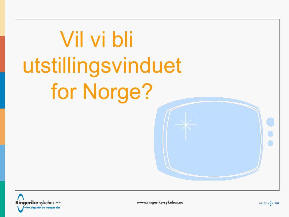 Vil vi bli utstillingsvinduet for Norge