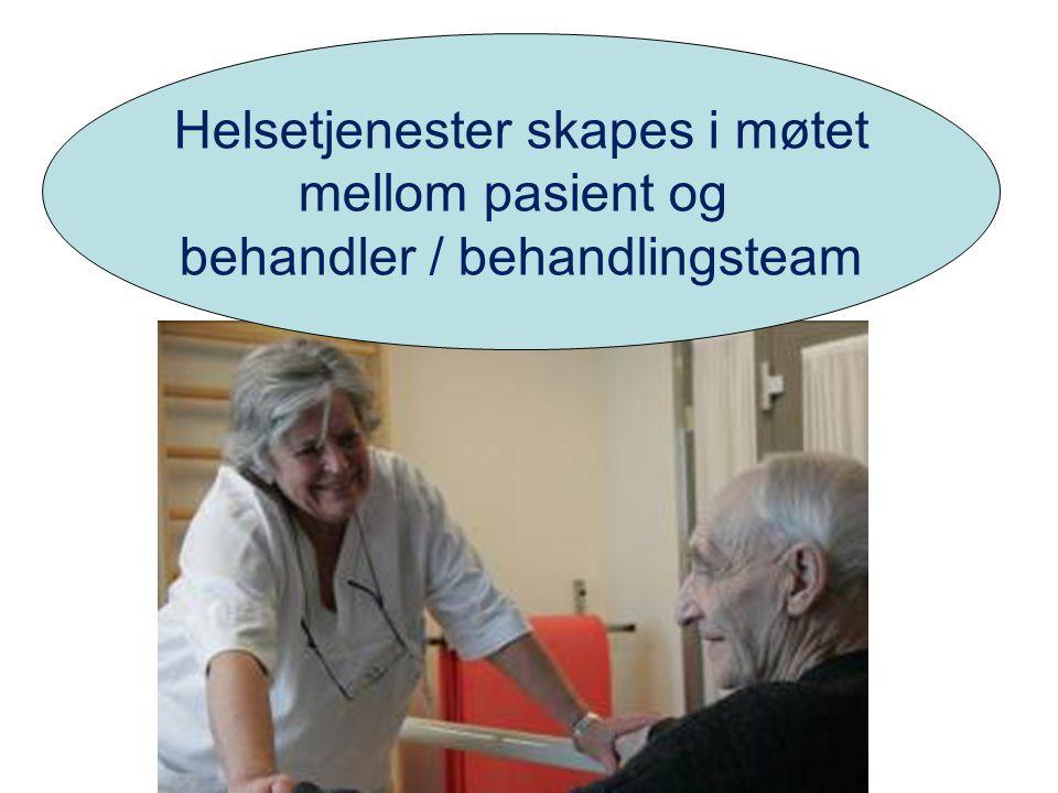 Helsetjenester skapes i møtet mellom pasient og behandler / behandlingsteam