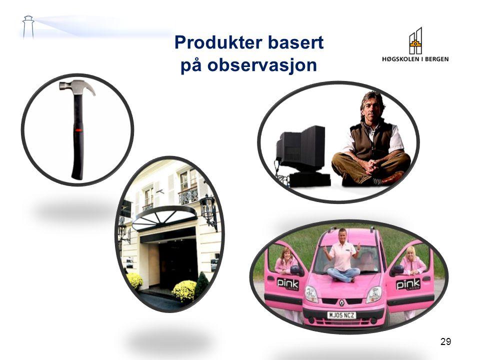Produkter basert på observasjon 29