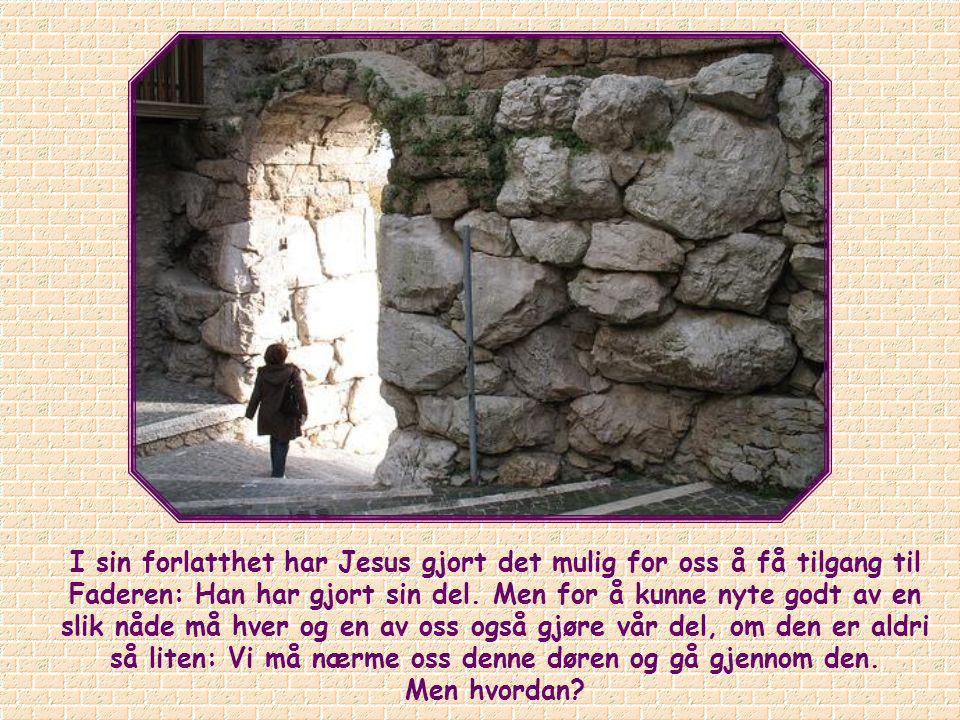 """""""Jeg er døren. Den som går inn gjennom meg, skal bli frelst, og han skal gå inn og ut of finne beite."""" (Joh. 10,9)."""