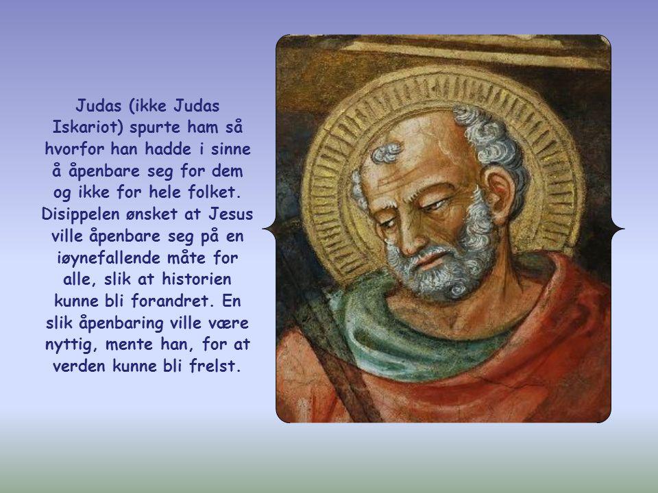 I sin sterke avskjedstale til apostlene forsikret Jesus dem blant annet at de skulle få se ham igjen, fordi han ville åpenbare seg for dem som elsket ham.