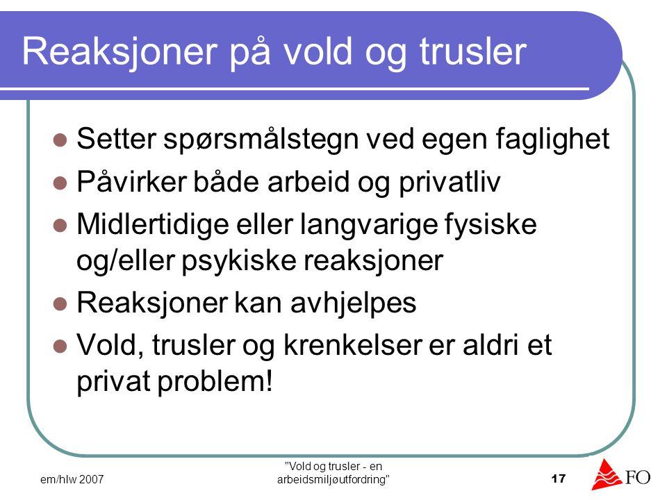 Arbeidsmiljø – et helhetssyn Arbeidsmiljøtiltak Faglige tiltak Bedring av rammebetingelser Vold og trusler - en arbeidsmiljøutfordringTemakafe Kristiansand 8.oktober 2008 18