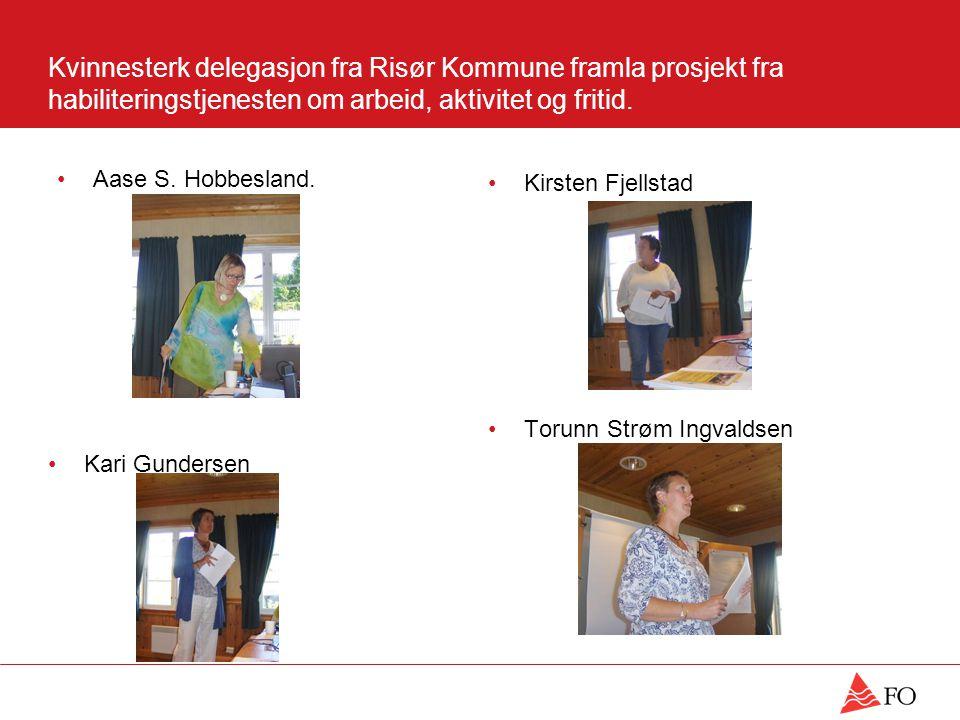 Kvinnesterk delegasjon fra Risør Kommune framla prosjekt fra habiliteringstjenesten om arbeid, aktivitet og fritid.