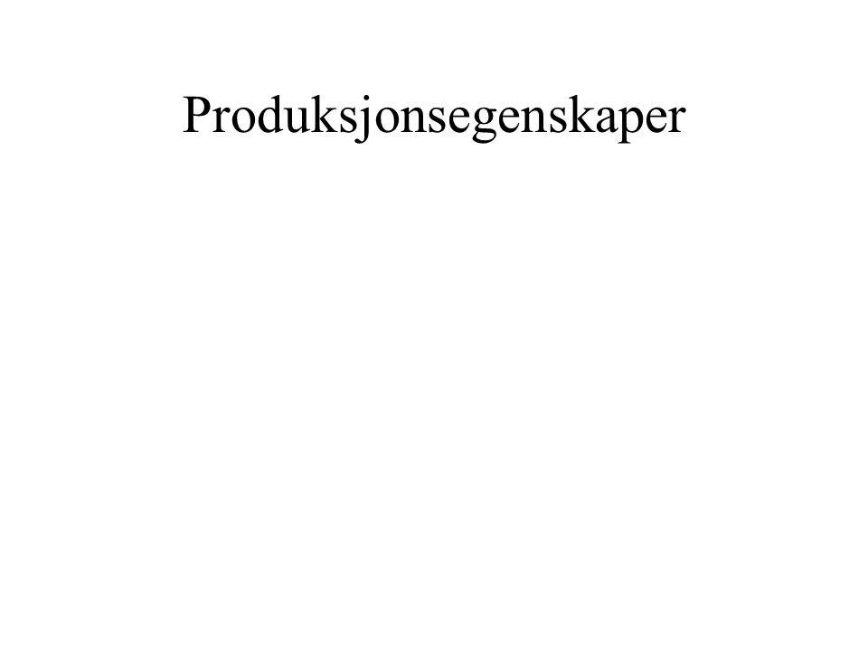 Produksjonsegenskaper