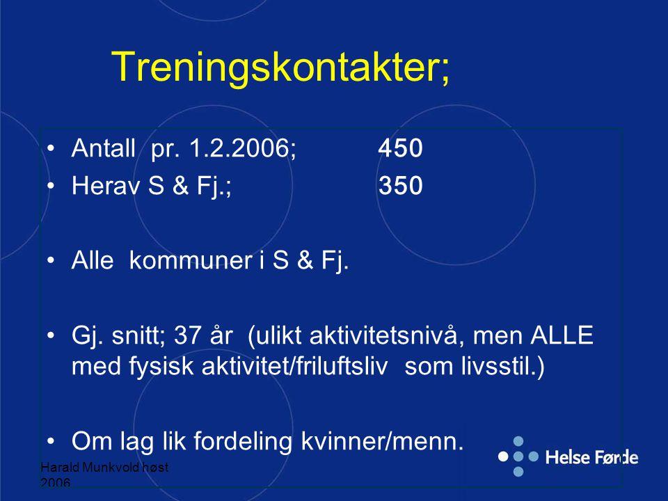 """Harald Munkvold høst 2006 """"For Jarle er det viktigst at han har fått tilbake livet sitt. For et år siden sluttet han på medisiner. Han tok et år på fo"""